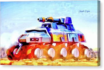 Star Wars Rebel Army Armor Vehicle - Aquarell Vivid Style Canvas Print by Leonardo Digenio