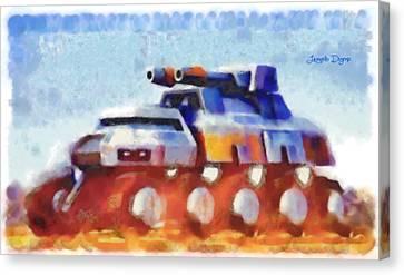 Amphibians Canvas Print - Star Wars Rebel Army Armor Vehicle  - Watercolor Wet Style -  - Da by Leonardo Digenio