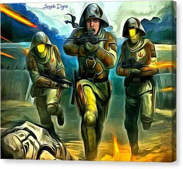Trooper Canvas Print - Star Wars Rebel Trooper - Da by Leonardo Digenio