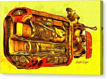 Star Wars Rey Speeder - Da Canvas Print by Leonardo Digenio