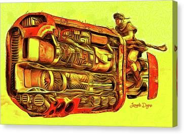 Star Wars Rey Speeder Canvas Print by Leonardo Digenio