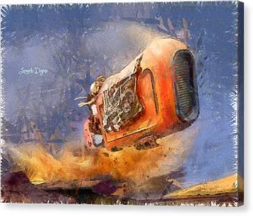Star Wars Rey Speeding - Da Canvas Print by Leonardo Digenio