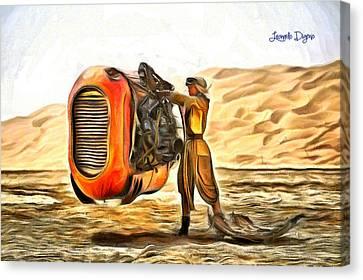 Star Wars Rey's Stuff To Sell - Da Canvas Print