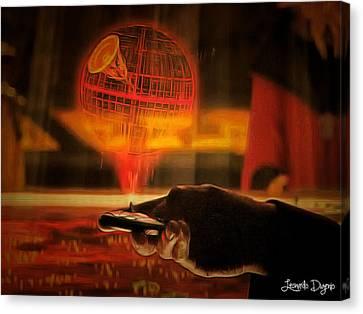 Secret Canvas Print - Star Wars Secret Plans by Leonardo Digenio