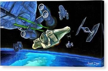 Star Wars Shot Canvas Print by Leonardo Digenio