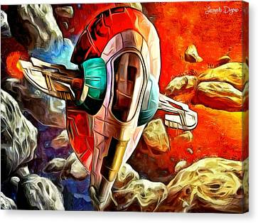 Back Canvas Print - Star Wars Skull Ship - Da by Leonardo Digenio