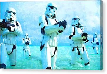 Star Wars Stormtrooper Patrol - Da Canvas Print