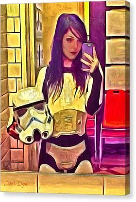 Star Wars Stormtrooper Selfie Canvas Print