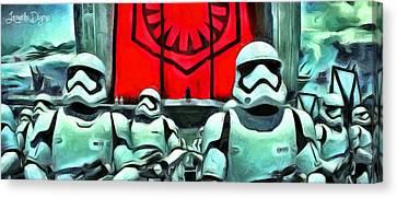 Star Wars The Emperor - Da Canvas Print