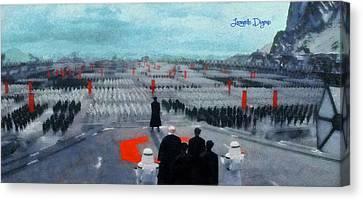 Star Wars The Empire - Da Canvas Print