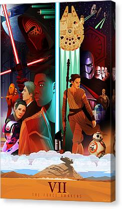Star Wars The Force Awakens Alternative Poster Canvas Print by Christopher Ables
