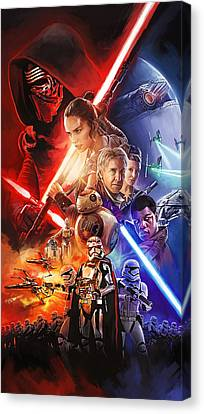Star Wars The Force Awakens Artwork Canvas Print by Sheraz A