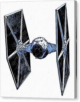 Star Wars Tie Fighter Canvas Print by Edward Fielding