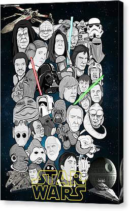 Star Wars Universe Collage Canvas Print by Gary Niles
