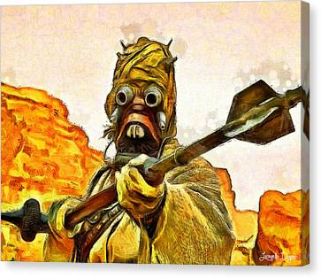 Sand Canvas Print - Star Wars Warrior - Da by Leonardo Digenio