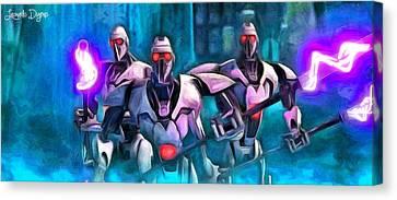 Sith Canvas Print - Star Wars Warrior Droids by Leonardo Digenio