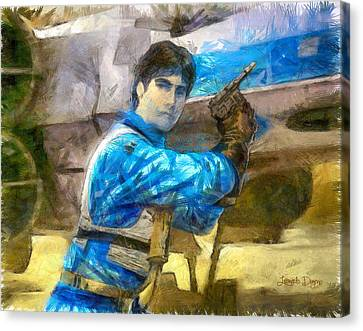 Star Wars Wedge Antilles - Da Canvas Print by Leonardo Digenio