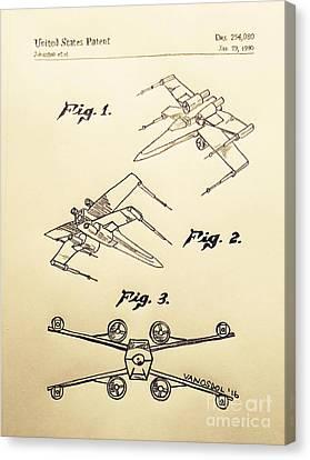Star Wars X-wing 1980 Us Patent - Vintage Canvas Print by Scott D Van Osdol
