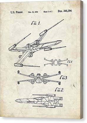 Star Wars X Wing Fighter Patent Canvas Print by Igor Drondin