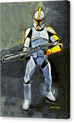 Star Wars Yellow Commander - Pa Canvas Print by Leonardo Digenio