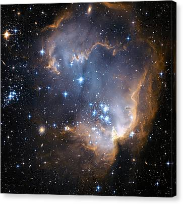 Starbirth Region Ngc 602 Canvas Print by Hubble Heritage Teamnasaesastsciaura