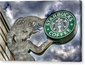 Starbucks Coffee Canvas Print by Spencer McDonald