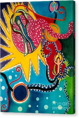 Canvas Print featuring the drawing Starburst by Christine Perry