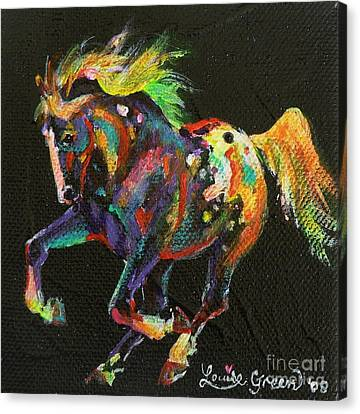 Starburst Pony Canvas Print by Louise Green