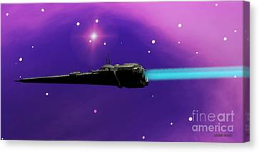 Starcruiser Canvas Print by Corey Ford