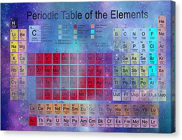 Stardust Periodic Table No.2 Canvas Print by Carol and Mike Werner