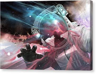 Canvas Print featuring the digital art Stardust by Steve Goad