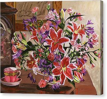 Stargazer Lilies Canvas Print