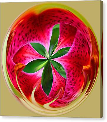 Canvas Print featuring the photograph Stargazer Lily Orb by Bill Barber