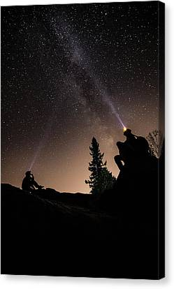Stargazing At The Cascades With Dave Canvas Print by Jakub Sisak