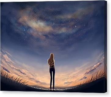 Stargazing Canvas Print by Veronica Zhang