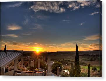 Starise At Arcosanti Canvas Print by William Wetmore