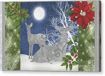 Silver Moonlight Canvas Print - Starlight Christmas Ix by Mindy Sommers