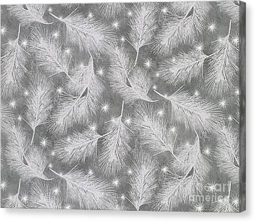 Silver Moonlight Canvas Print - Starlight Christmas Vii by Mindy Sommers