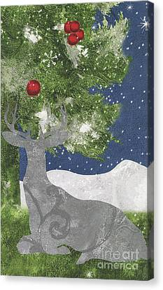 Silver Moonlight Canvas Print - Starlight Christmas X by Mindy Sommers