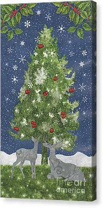 Silver Moonlight Canvas Print - Starlight Christmas Xi by Mindy Sommers