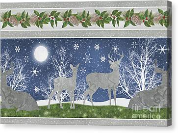 Silver Moonlight Canvas Print - Starlight Christmas Xii by Mindy Sommers