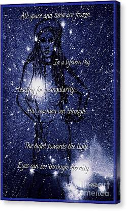 Starlight In Space And Time 5 Canvas Print by Joan-Violet Stretch