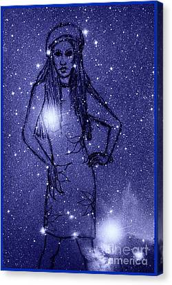 Starlight Of Space And Time 2 Canvas Print by Joan-Violet Stretch