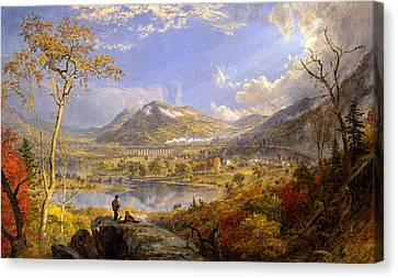 Starrucca Viaduct Pennsylvania Canvas Print by Jasper Francis Cropsey