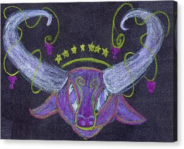Starry Bull Canvas Print
