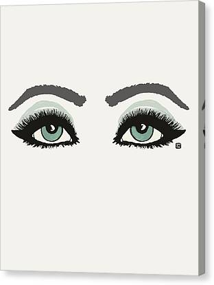 Canvas Print featuring the painting Starry Eyed by Lisa Weedn