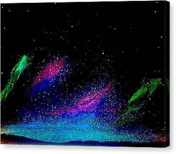 Canvas Print featuring the painting Starry Night 2 by Scott Wilmot
