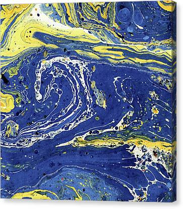 Canvas Print featuring the painting Starry Night Abstract by Menega Sabidussi