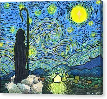 Starry Night Bethlehem Canvas Print