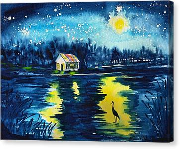 Starry Night Canvas Print by Sharon Mick